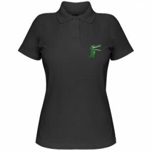 Damska koszulka polo Toothy crocodile