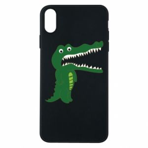 Phone case for iPhone Xs Max Toothy crocodile - PrintSalon
