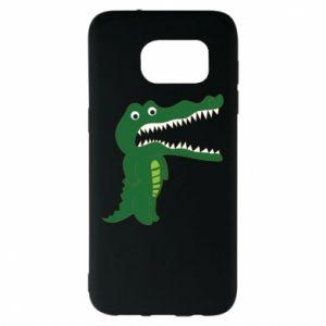 Etui na Samsung S7 EDGE Toothy crocodile