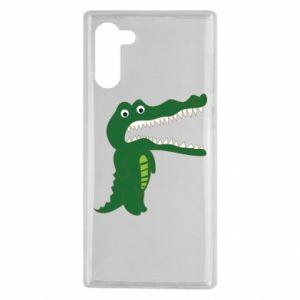 Etui na Samsung Note 10 Toothy crocodile