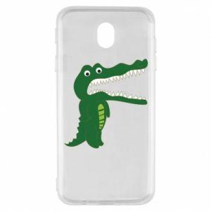 Etui na Samsung J7 2017 Toothy crocodile