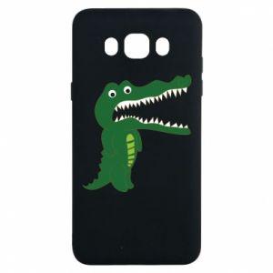Etui na Samsung J7 2016 Toothy crocodile