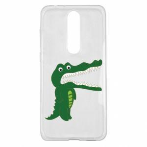 Etui na Nokia 5.1 Plus Toothy crocodile