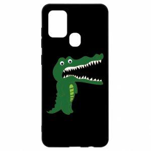 Etui na Samsung A21s Toothy crocodile