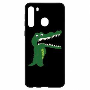 Etui na Samsung A21 Toothy crocodile