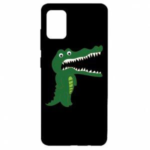 Etui na Samsung A51 Toothy crocodile