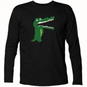 Long Sleeve T-shirt Toothy crocodile - PrintSalon