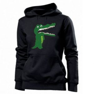 Women's hoodies Toothy crocodile
