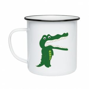 Enameled mug Toothy crocodile