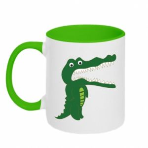 Two-toned mug Toothy crocodile - PrintSalon