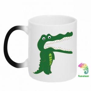Kubek-kameleon Toothy crocodile