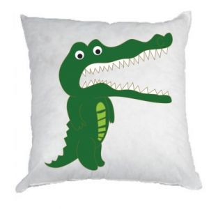 Pillow Toothy crocodile - PrintSalon