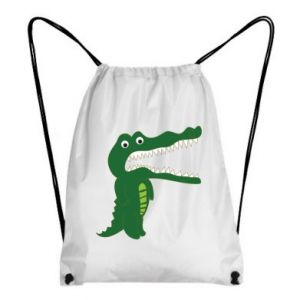 Backpack-bag Toothy crocodile - PrintSalon