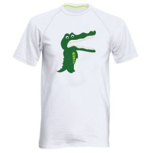 Men's sports t-shirt Toothy crocodile