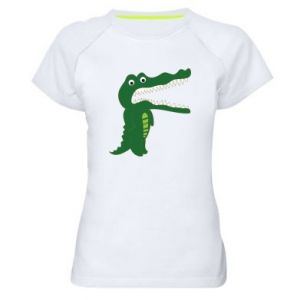 Women's sports t-shirt Toothy crocodile - PrintSalon