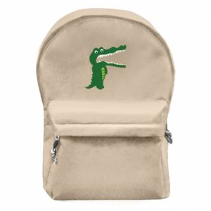 Backpack with front pocket Toothy crocodile - PrintSalon