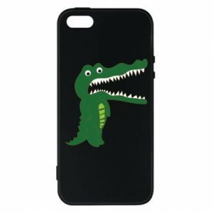 Phone case for iPhone 5/5S/SE Toothy crocodile - PrintSalon