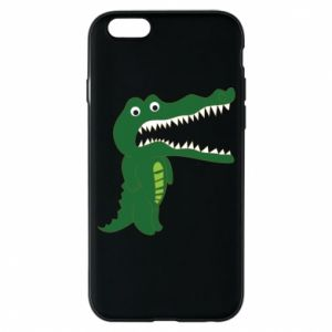 Phone case for iPhone 6/6S Toothy crocodile - PrintSalon