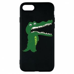 Phone case for iPhone 7 Toothy crocodile - PrintSalon