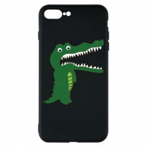 Phone case for iPhone 8 Plus Toothy crocodile - PrintSalon