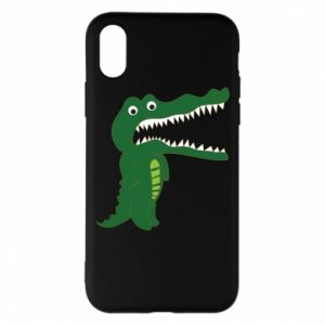 Phone case for iPhone X/Xs Toothy crocodile - PrintSalon