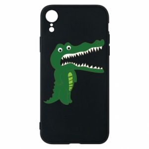 Phone case for iPhone XR Toothy crocodile - PrintSalon