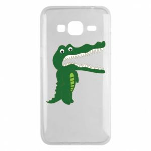 Phone case for Samsung J3 2016 Toothy crocodile - PrintSalon