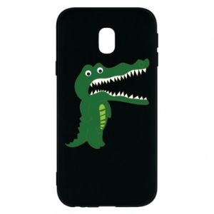 Phone case for Samsung J3 2017 Toothy crocodile - PrintSalon