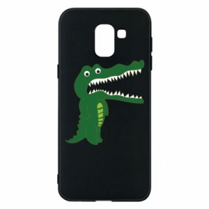 Phone case for Samsung J6 Toothy crocodile - PrintSalon