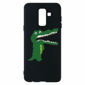 Phone case for Samsung A6+ 2018 Toothy crocodile - PrintSalon