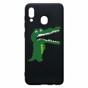 Phone case for Samsung A20 Toothy crocodile - PrintSalon