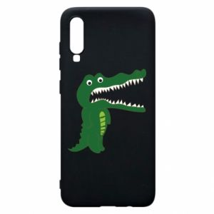 Phone case for Samsung A70 Toothy crocodile - PrintSalon
