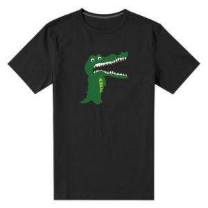 Męska premium koszulka Toothy crocodile
