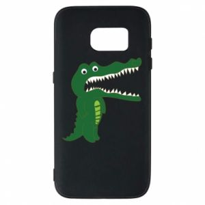 Phone case for Samsung S7 Toothy crocodile - PrintSalon