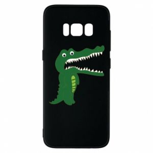 Phone case for Samsung S8 Toothy crocodile - PrintSalon