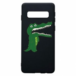 Phone case for Samsung S10 Toothy crocodile - PrintSalon