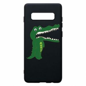 Phone case for Samsung S10+ Toothy crocodile - PrintSalon