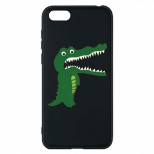 Phone case for Huawei Y5 2018 Toothy crocodile - PrintSalon