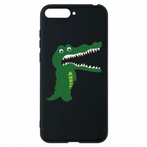 Phone case for Huawei Y6 2018 Toothy crocodile - PrintSalon