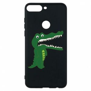 Phone case for Huawei Y7 Prime 2018 Toothy crocodile - PrintSalon