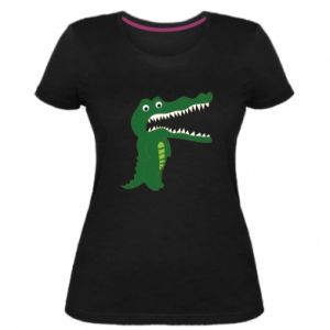 Damska premium koszulka Toothy crocodile