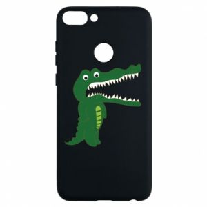 Phone case for Huawei P Smart Toothy crocodile - PrintSalon