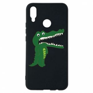 Phone case for Huawei P Smart Plus Toothy crocodile - PrintSalon