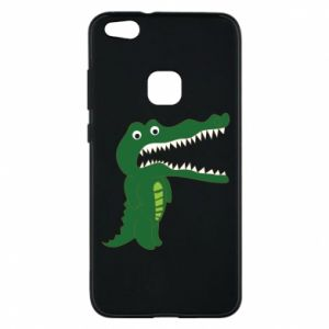 Phone case for Huawei P10 Lite Toothy crocodile - PrintSalon
