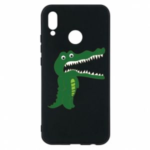 Phone case for Huawei P20 Lite Toothy crocodile - PrintSalon