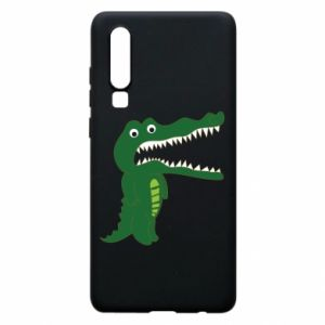 Phone case for Huawei P30 Toothy crocodile - PrintSalon