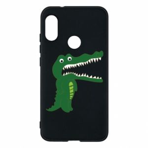 Phone case for Mi A2 Lite Toothy crocodile - PrintSalon