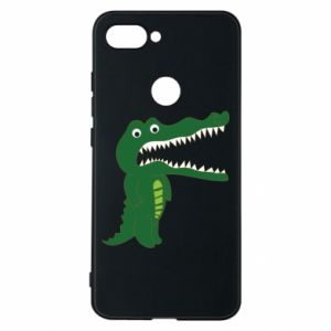 Phone case for Xiaomi Mi8 Lite Toothy crocodile - PrintSalon