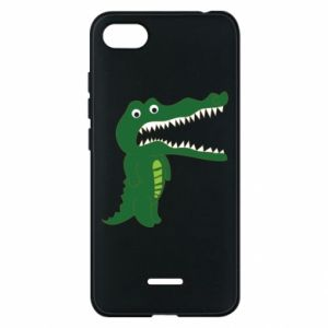Phone case for Xiaomi Redmi 6A Toothy crocodile - PrintSalon