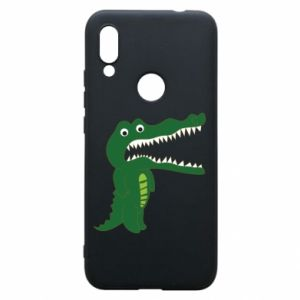 Phone case for Xiaomi Redmi 7 Toothy crocodile - PrintSalon
